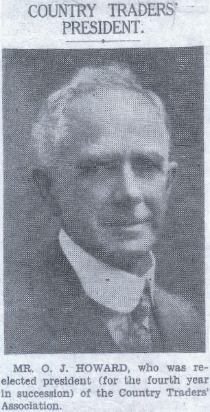Photograph of O.J. Howard during his presidency of the Country Traders' Association which he also founded. Source: John Howard personal photographs
