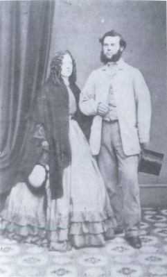 A photograph of Robert Stephen Howard and his wife Maria nee Wallis in 1862 before they embarked to Australia. They landed at Moreton Bay, Queensland on November 28, 1862. Source: John Howard personal photos