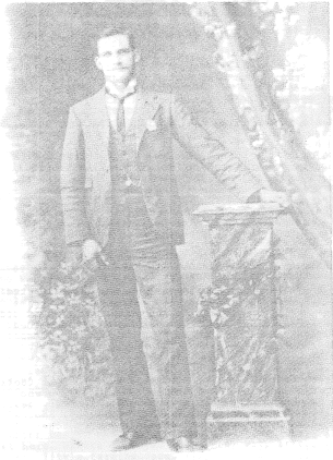 A scanned copy of a photograph of Bert McKay, author of Cookamidgera Memories. The photograph was taken in 1898 when Bert was 21 years old. Source: Bert McKay (1987) Cookamidgera Memories Parkes & District Historical Society: Parkes p.5