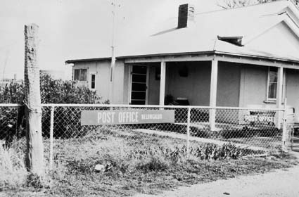 Photograph of Nelungaloo Post Office in 1960. Source: National Archives of Australia website at https://recordsearch.naa.gov.au/SearchNRetrieve/Interface/DetailsReports/PhotoDetail.aspx?Barcode=3027678
