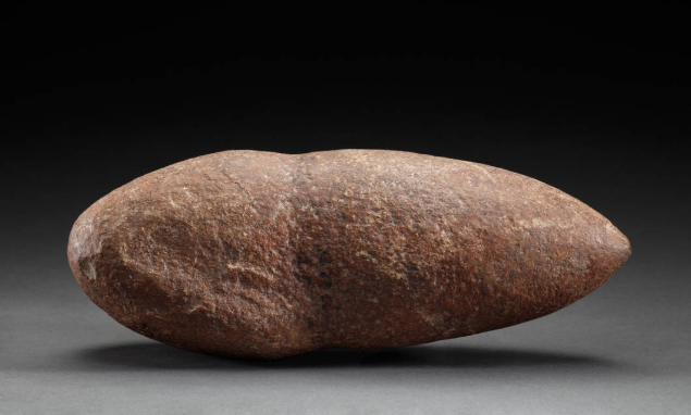 A stone implement with a conical shape at one end. This was found at Daroobalgie near the Lachlan River. Source: National Museum Australia website found at http://collectionsearch.nma.gov.au/object/199648