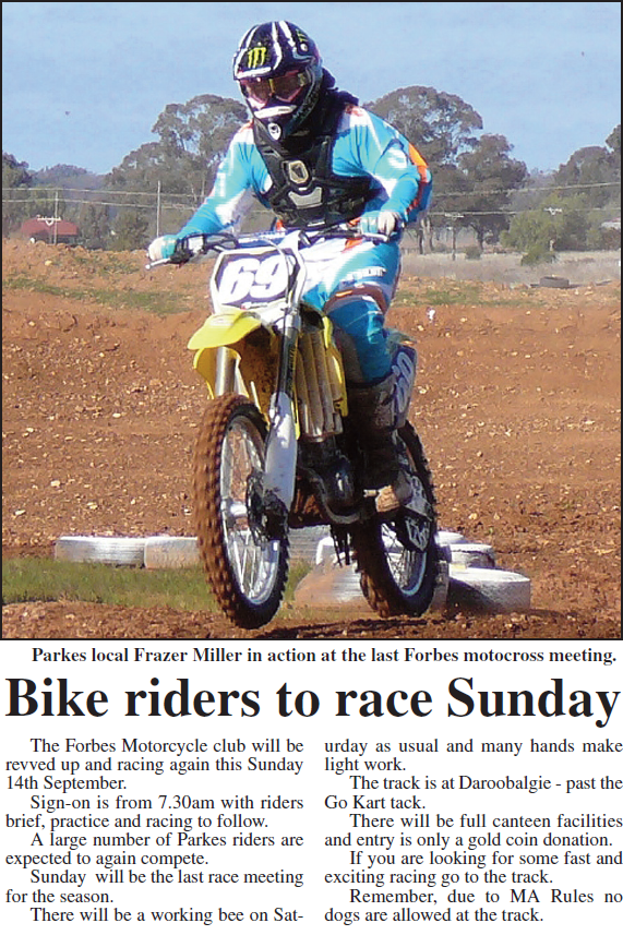 Parkes local, Frazer Miller, is seen in action here at Daroobalgie. Source: Parkes Champion Post September 12, 2008 p.24