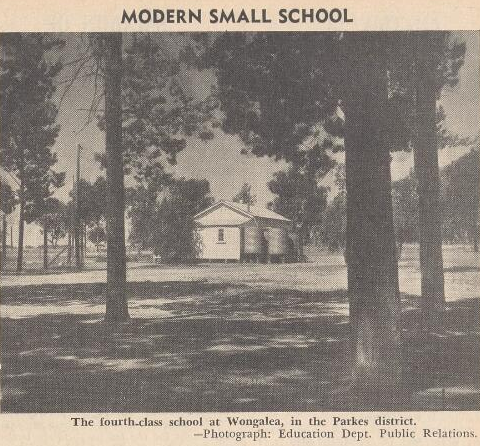 Photograph of Wongalea School as featured in Education - the Journal of the NSW Teachers' Federation. Source: Education: The Journal of the NSW Teachers' Federation Vol. 40 No. 08 (1 July 1959) p.1