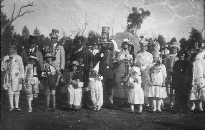 This was a Peace Picnic held to celebrate the ending of World War I. Organised by residents of the Gunningbland, Nelungaloo and Wongalea areas - Wongalea area, NSW. Source: NSW State Library